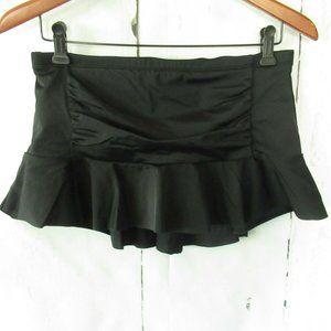 Athleta Shirred Skirt S Ruffle Swim Suit Bottom